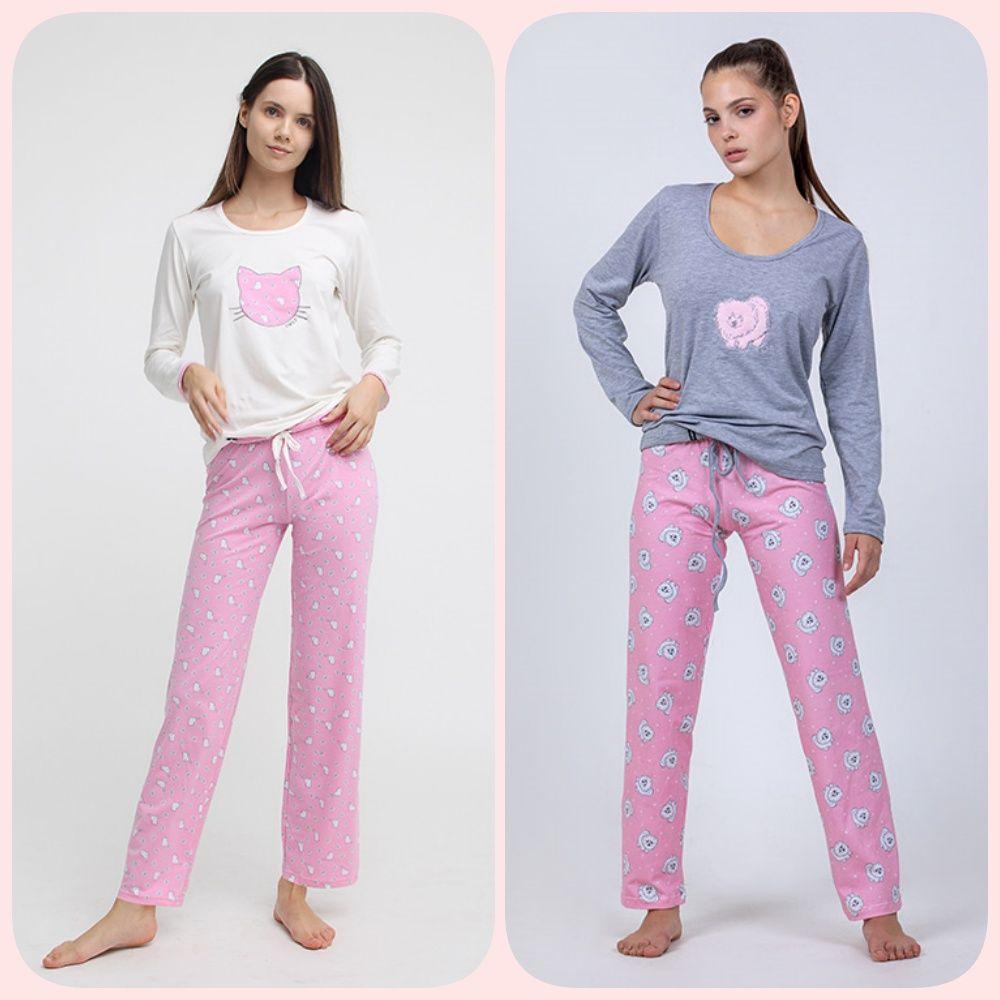 SWAP cica mintás pamut pizsama